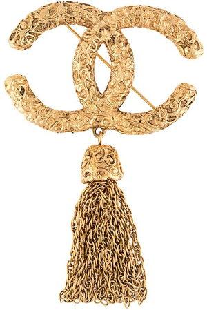 CHANEL Women Jewellery - 1990s CC tassel brooch