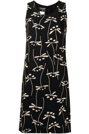 CHANEL 1998 floral print knee-length dress