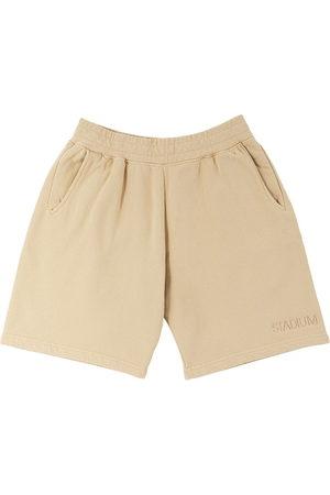Stadium Goods Sports Shorts - Eco logo-embroidered track shorts - Neutrals