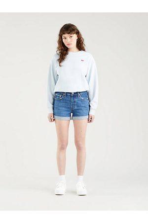 Levi's Women Shorts - 501® Rolled Shorts - Dark Indigo / Troy Scraped