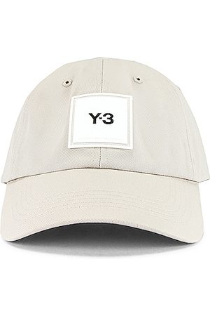 Y-3 Men Hats - Square Label Cap in Clear