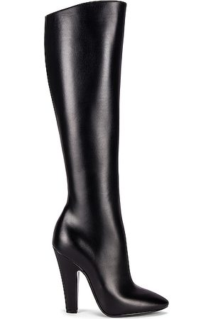 Saint Laurent 68 Knee High Boots in Noir