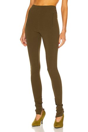 WARDROBE.NYC Side Split Legging in Military
