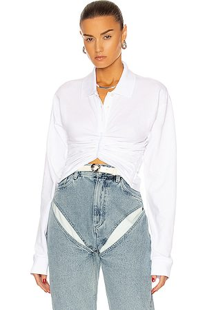 Y / PROJECT Ruched Corset Polo Top in
