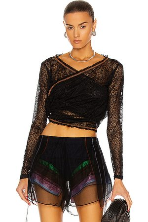 Y / PROJECT Twisted Lace Top in
