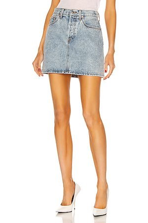 WARDROBE.NYC Denim Mini Skirt in