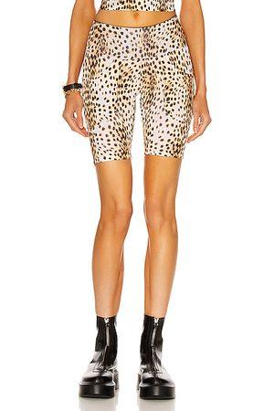 R13 Active Patch Pocket Biker Short in Cheetah