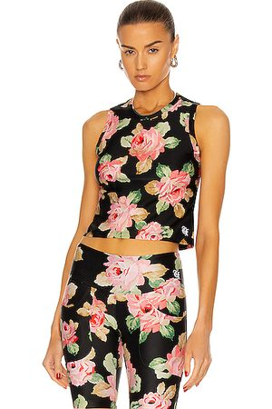 R13 Active Cropped Tank Top in Rose
