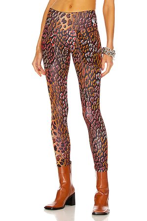 R13 Active Patch Pocket Legging in Bronze Multi Leopard Combo