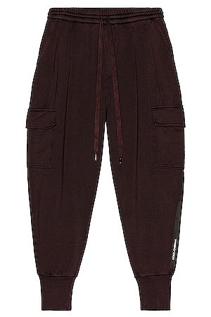Dolce & Gabbana Men Cargo Trousers - Cargo Pants in Maroon