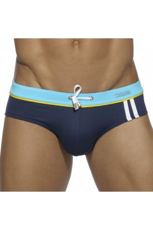Addicted Sport Detail Binding Swim Brief - Navy XS
