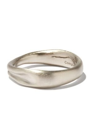 COMPLETEDWORKS Men Rings - Deflated Platinum-plated Sterling- Ring - Mens