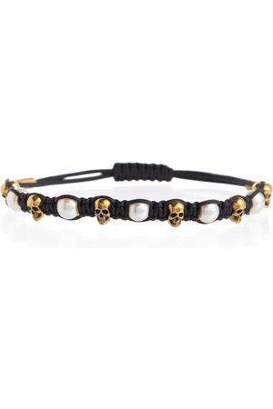 Alexander McQueen Women Bracelets - Skull embellished cord bracelet