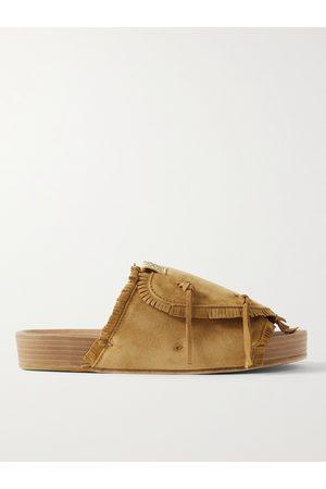 VISVIM Men Sandals - Christo Shaman-Folk Fringed Suede Sandals
