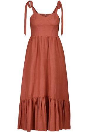 JONATHAN SIMKHAI Georgia linen-blend midi dress