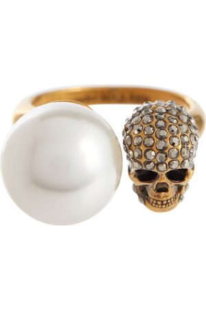 Alexander McQueen Faux pearl and crystal-embellished ring