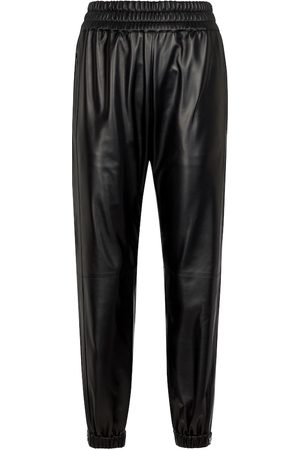 Alexander McQueen High-rise leather pants
