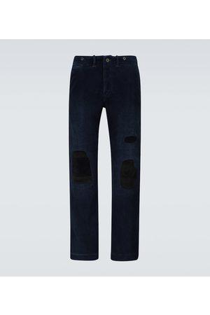 RRL Men Trousers - Distressed corduroy pants