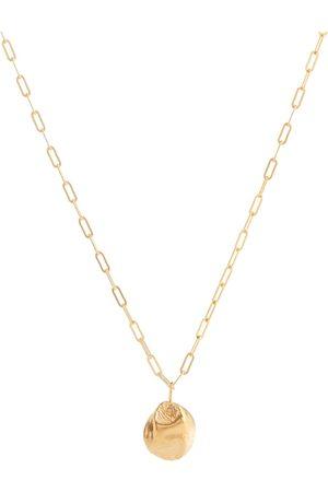 Alighieri Minerva 24kt -plated bronze necklace