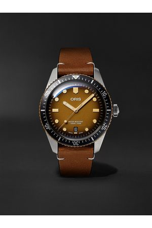 Oris Men Watches - Divers Sixty-Five Automatic 40mm Bronze, Stainless Steel and Leather Watch, Ref. No. 01 733 7707 4356-07 5 20 45