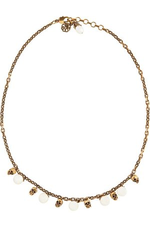 Alexander McQueen Skull faux pearl-embellished necklace
