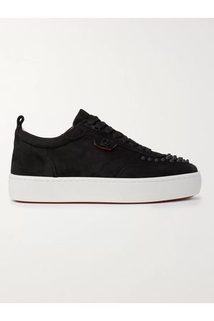 Christian Louboutin Men Trainers - Happyrui Spiked Leather Sneakers