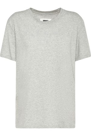 MM6 MAISON MARGIELA Embroidered Logo Cotton Jersey T-shirt