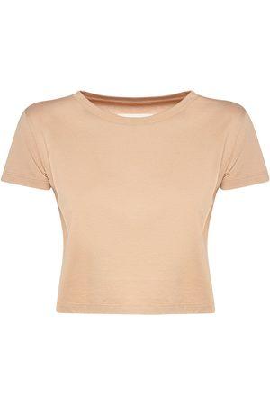 MM6 MAISON MARGIELA Cotton Jersey Crop T-shirt
