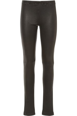 MM6 MAISON MARGIELA Stretch Faux Leather Coated Leggings