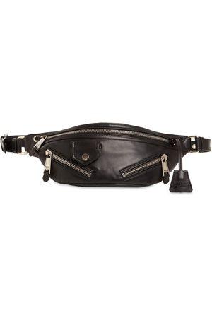 Moschino Leather Biker Belt Bag