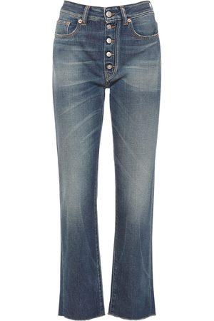 MM6 MAISON MARGIELA High Waist Cotton Denim Straight Jeans
