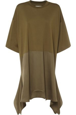 MM6 MAISON MARGIELA Asymmetric Jersey & Viscose Mini Dress