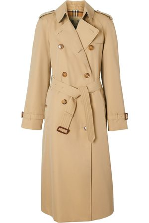 Burberry Women Trench Coats - Waterloo Cotton Canvas Trench Coat