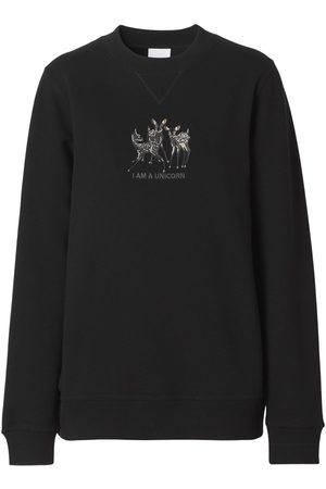BURBERRY Women Sweatshirts - Berkley Jersey Printed Sweatshirt