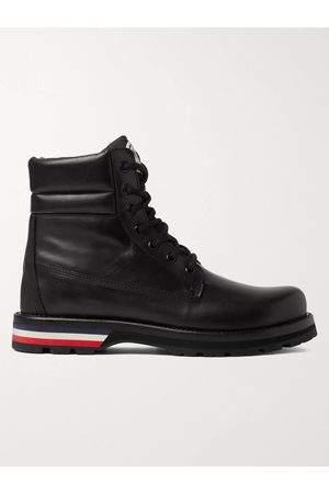Moncler Men Outdoor Shoes - Vancouver Striped Leather Hiking Boots