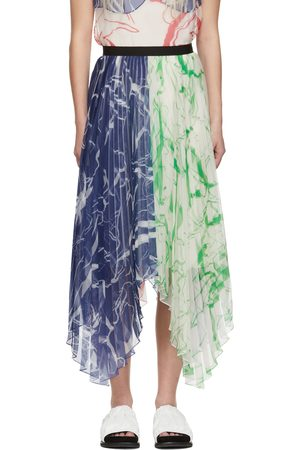 Marina Moscone Women Maxi Skirts - Multicolor Plissé Skirt