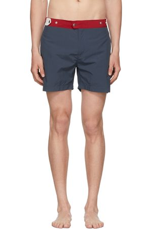 Solid Navy & Red The Kennedy Swim Shorts