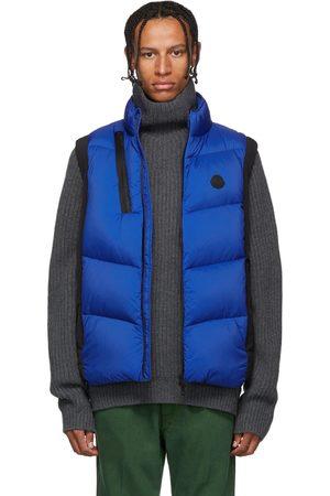 Moncler Men Body Warmers - Black & Blue Down Jacot Vest
