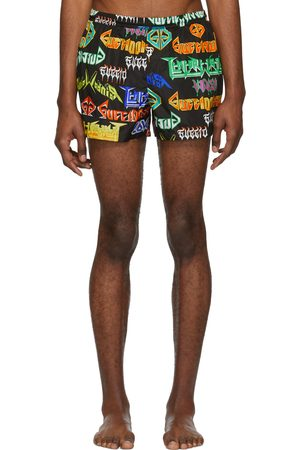 Gucci Black & Multicolor Metal Mix Swim Shorts