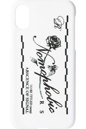 RAF SIMONS Phones - White Logo iPhone X Case