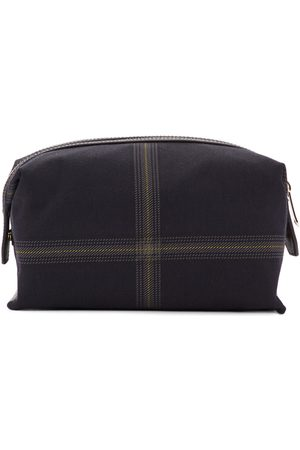 Paul Smith Navy Check Wash Pouch