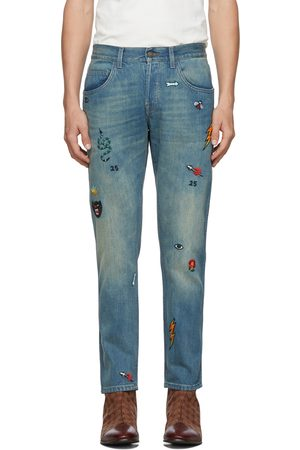 Gucci Men Tapered - Blue Symbol Tapered Jeans