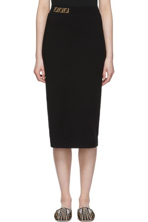 Fendi Women Pencil Skirts - Black 'Forever ' Pencil Skirt