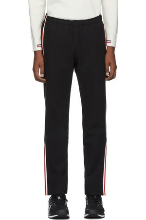 Moncler Black Side Stripe Performance Ski Lounge Pants