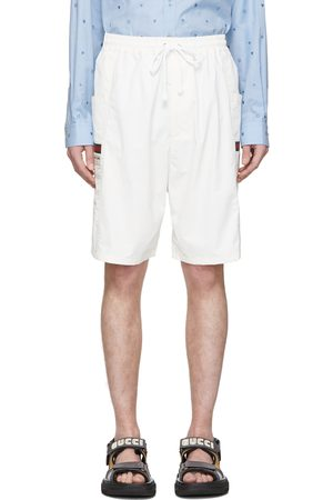 Gucci Off-White Canvas Swim Shorts