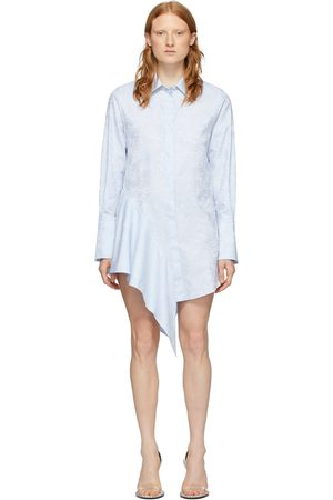 OFF-WHITE Blue Waves Asymmetrical Dress