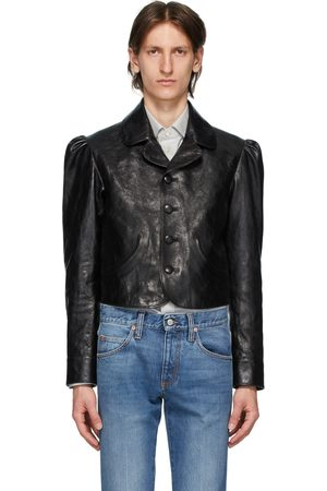Gucci Black Shiny Leather Jacket