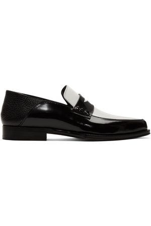 Loewe Black & White Pointy Loafers