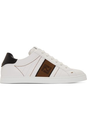 Fendi White Leather 'Forever ' Sneakers