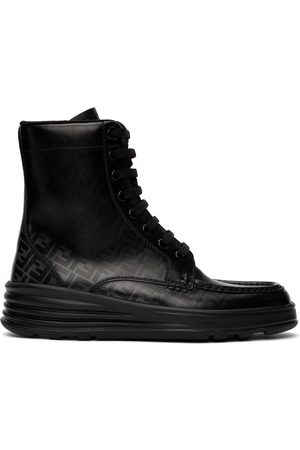 Fendi Black 'Forever ' Lace-Up Boots